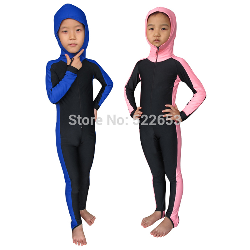 (2-11Y) 2016 new swimsuit kids girls boys baby swimwear Rash Guards Cover-ups one piece swim tights - Stone Chang's store
