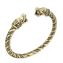 Cxwind Vintage Viking Amulet Cuff สร้อยข้อมือกำไลข้อมือ Punk สัตว์มังกรหัวงูกำไลข้อมือเครื่องประดับสไตล(China)