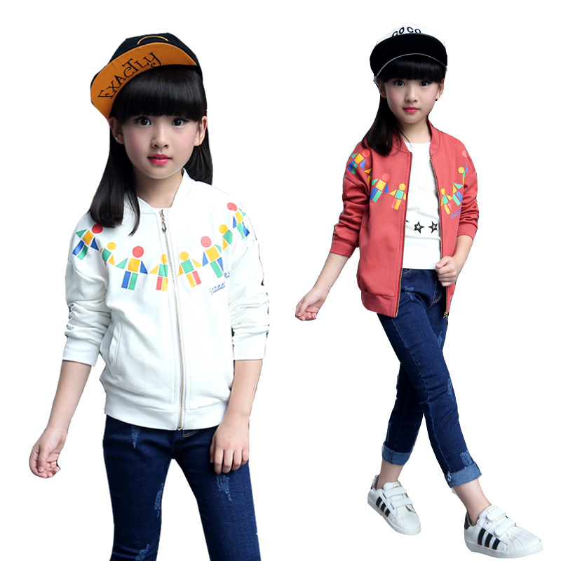 Brand New baby Jacket Character Pattern Kid Coat Zipper O-neck High Quality Cotton Fashion Autumn Winter Child Active Outwear