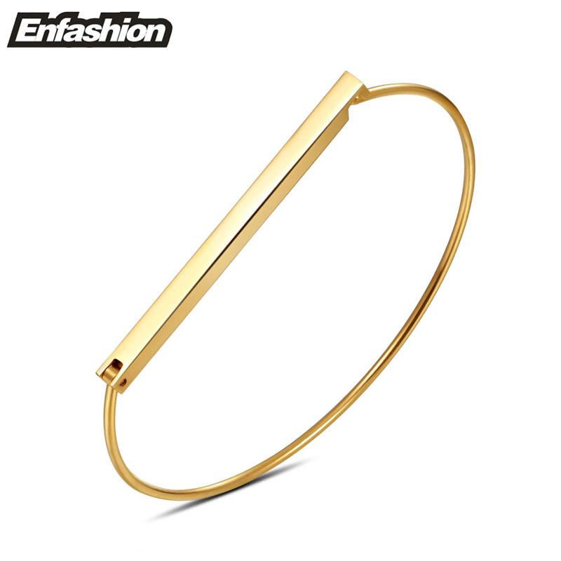 Enfashion Morden Flat Bar Cuff Bracelet Noeud armband Gold Bangle Bracelet For Women Bracelets Manchette Bangles Pulseiras(China (Mainland))