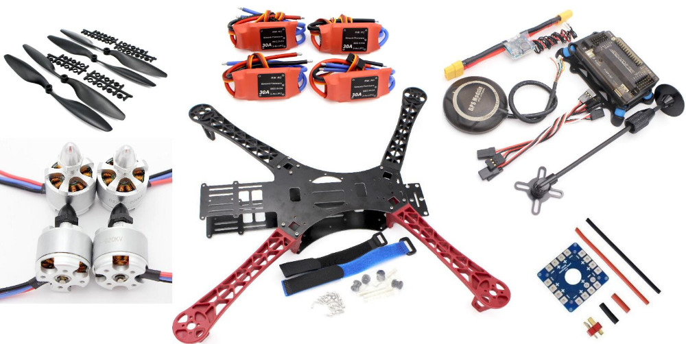 ARF REPTILE 500 Alien Quadcopter w/ APM2.8 Flight control + M8N GPS + 2212 Brushless motor + Simonk 30A ESC For mutilcopter fpv(China (Mainland))