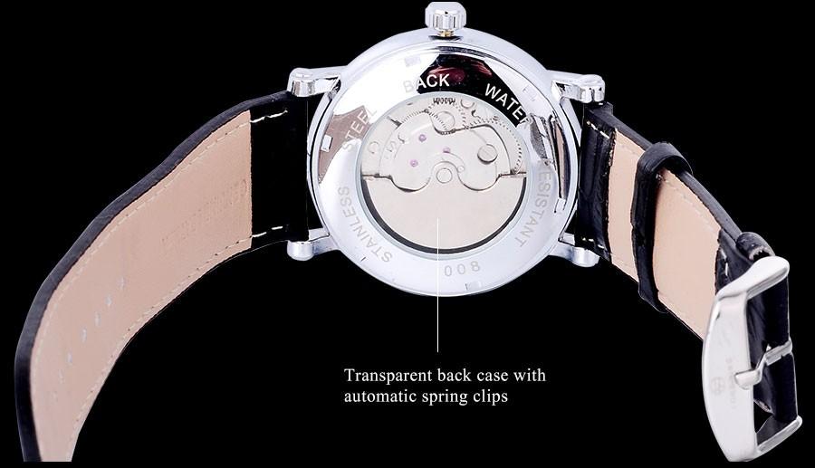 FORSINING мода марка мужчины механическая турбийон часы натуральный кожаный ремешок роскошных людей скелет часы relogio masculino