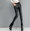PU pants for women plus size new fashion high waist pencil pants casual skinny full length