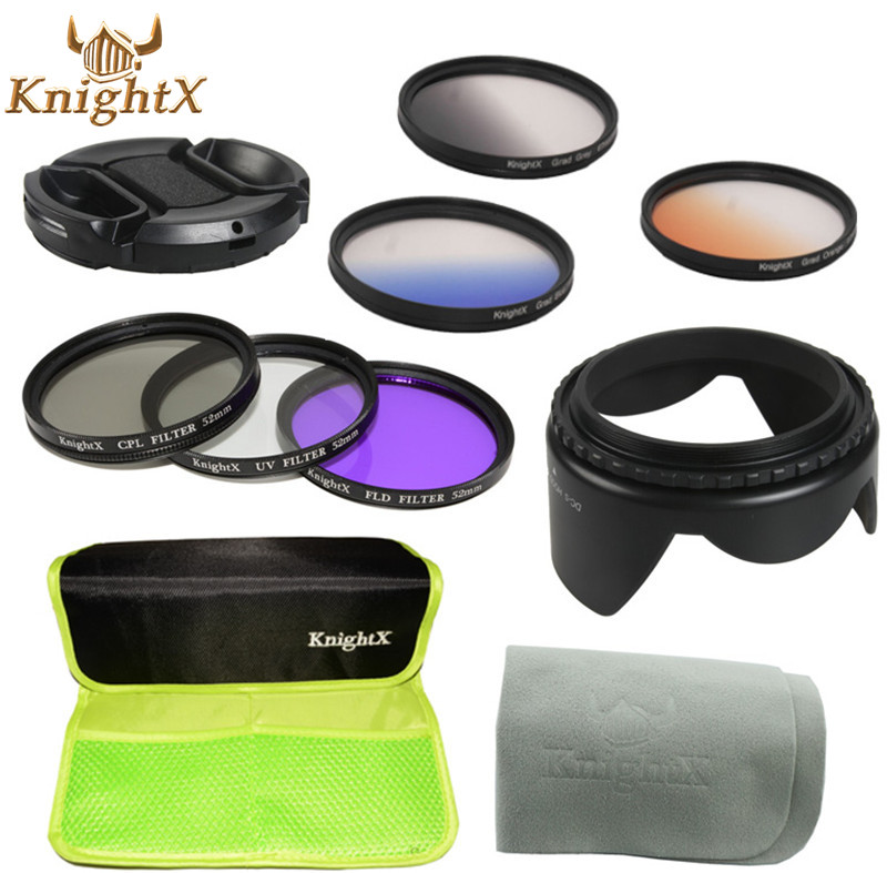 CPL UV FLD Filter Graduated Grey ND Color Filter set for Canon Nikon Sony Pentax Olympus 49mm 52mm 55mm 58mm 62mm 67mm lens X(China (Mainland))
