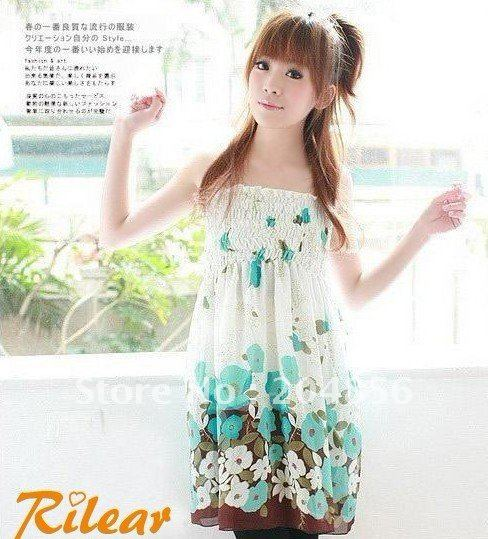 Wholesale Higher Quality Ladies Chiffon Halter Skirt Dress,Free size,3 color Free Shipping