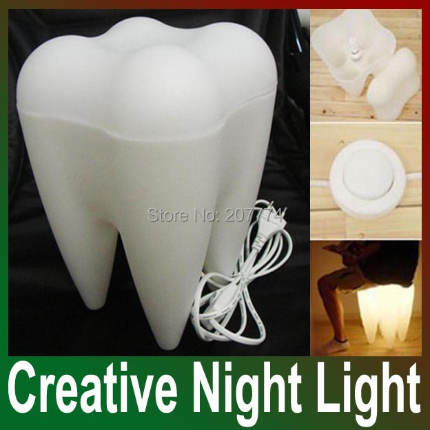 Free shipping drop shipping creative night lamp tooth shape light tooth shape lamp home decor - Drop shipping home decor plan ...