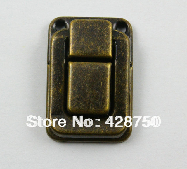 Antique Brass Jewelry Box Hasp Latch Lock 25x38mm with Screws