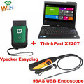 2016 VPECKER Easydiag Wireless OBDII Full Diagnostic Tool Support Wifi Thinkpad X220T I5 Tablet 98AS USB
