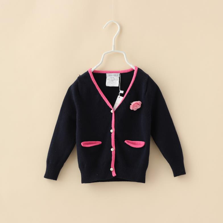 Children Girls Cardigan Sweater Appliques Flower Candy Color Autumn New 2014 Famous Brand Kids Casual Knitted Outerwear<br><br>Aliexpress