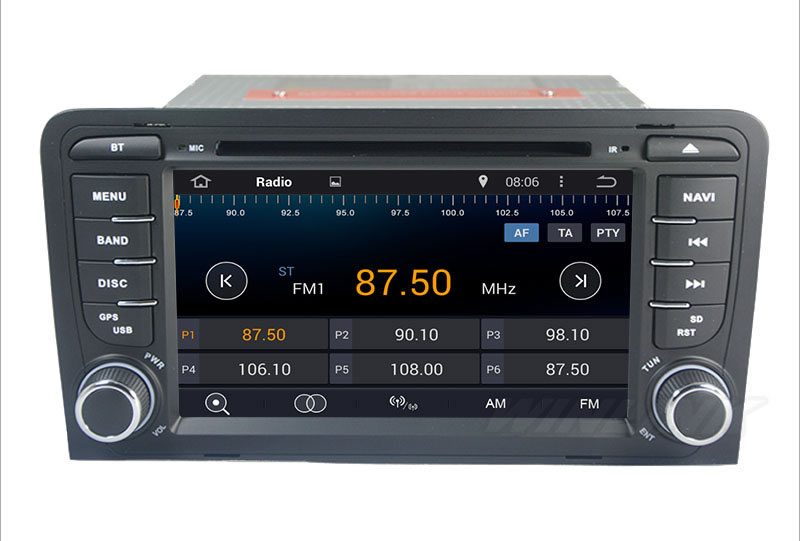 Quad Core 1024 600 Android 4 4 Car DVD Stereo Radio for Audi A3 2003 2011