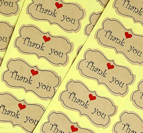Спасибо печатных пломба-наклейка стикера, этикетки хлебобулочных упаковка, (СС-737)