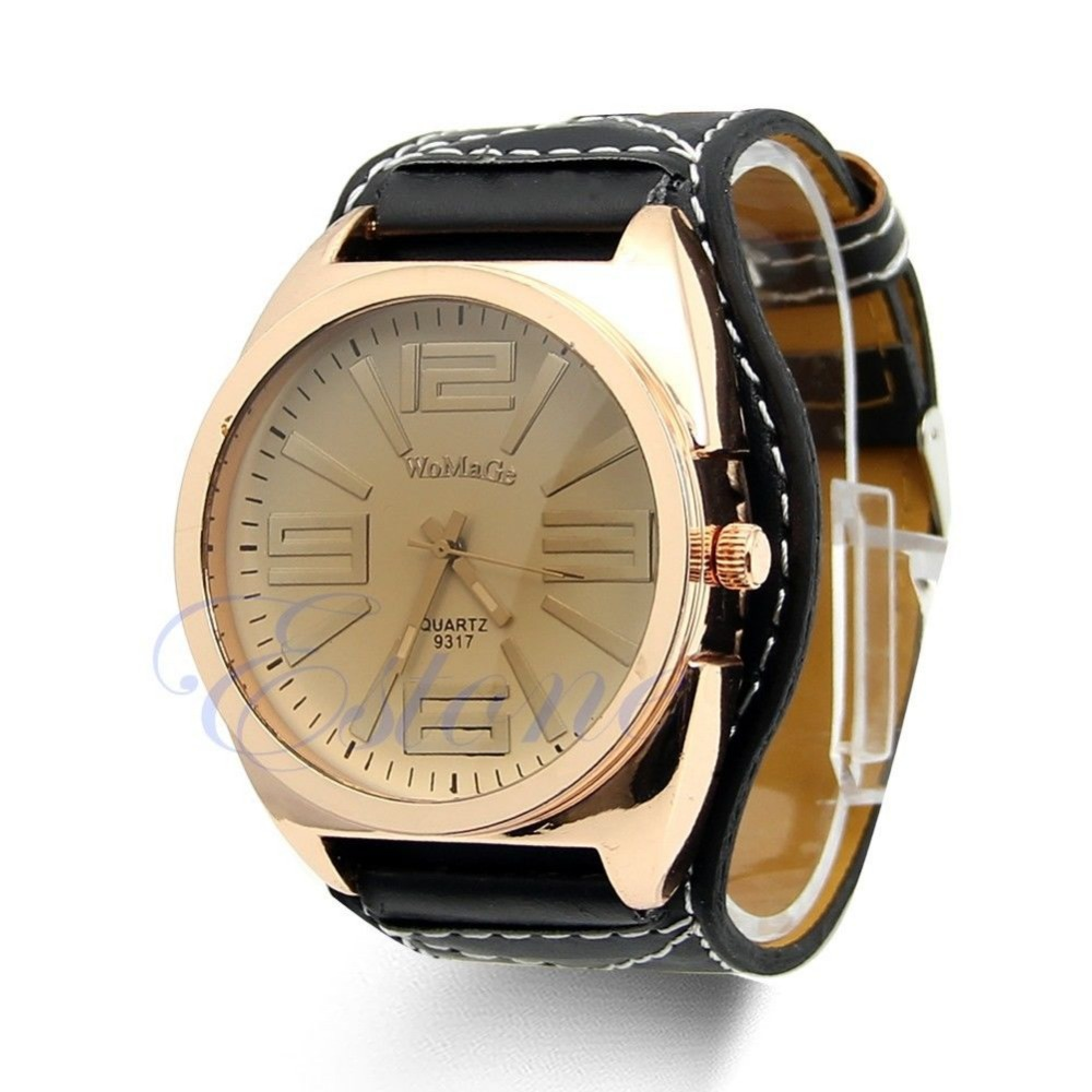 fashion brand leather big casual gold