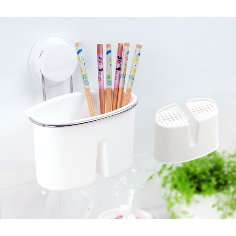 Buy Kitchen Organizer Box New Unique Plastic Stainless Steel Knife Fork Storage Bin Easy Clean 260116 cheap