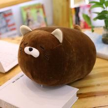Bonito Fat Cat Animal Dos Desenhos Animados Travesseiro Almofada de Pelúcia Brinquedo De Pelúcia Macia filhos Adoráveis Presente Birthyday(China)
