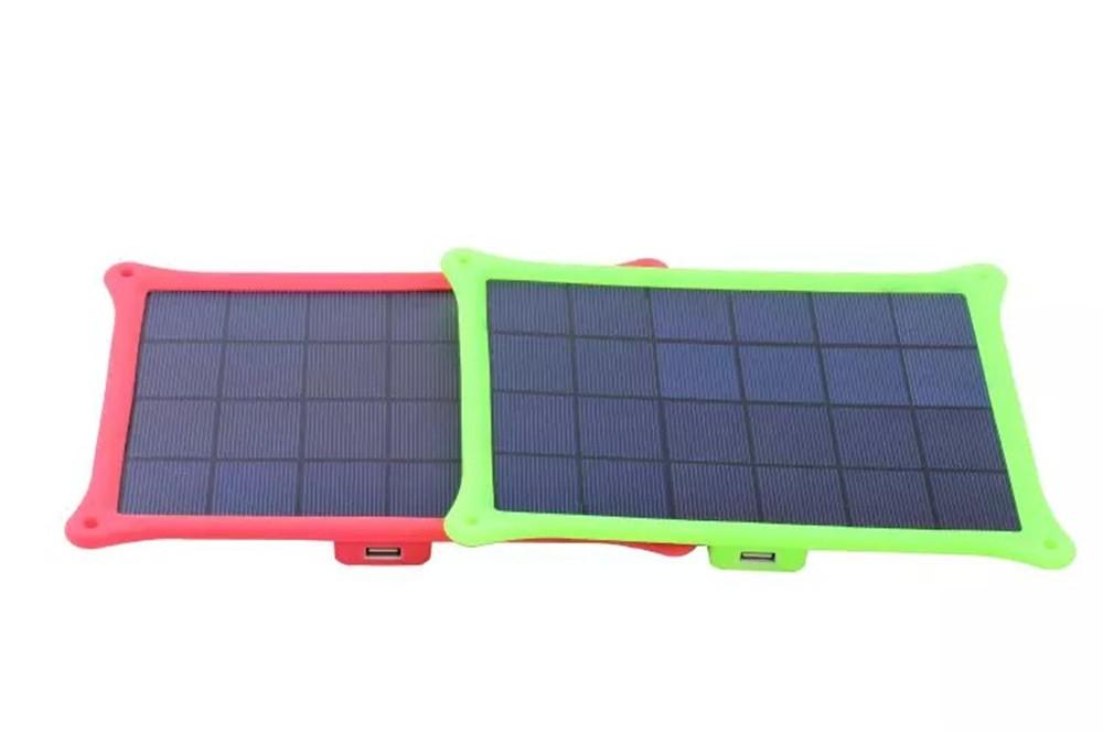 Solar Panel Battery 6V 5W USB Ultrathin Portable Universal Solar Power Bank Cargador Solar Bateria Externa for Mobile Phones PC(China (Mainland))