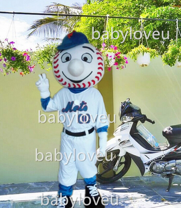 hot sale mr met mascot costume new cartoon boy costumes baseball mascot costumes(China (Mainland))
