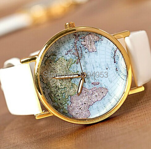 2016 Direct Selling Sale Hardlex Alloy 10mm To 19mm Unisex Relogios Femininos World Map Watches Quartz Fashion & Casual Watch(China (Mainland))