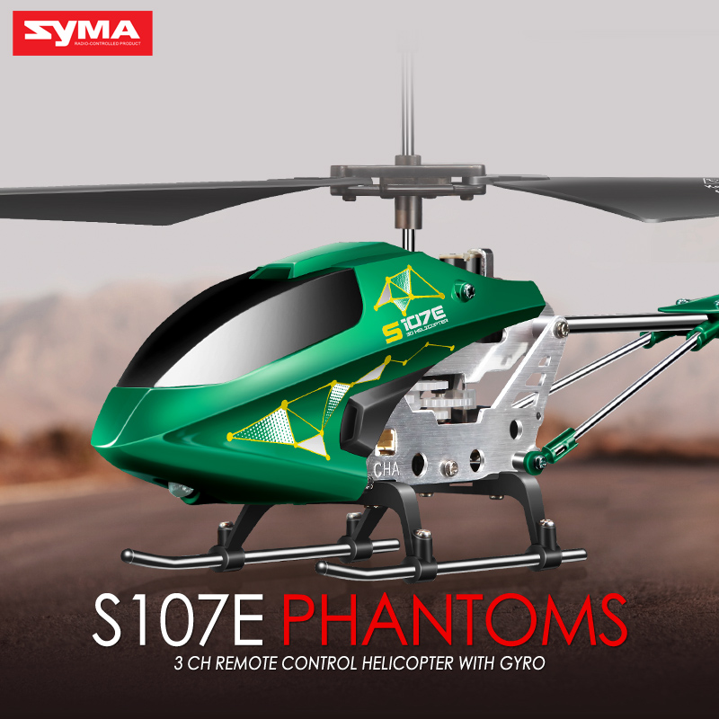 2016 Mini Drone Drones Syma S107E Nano Rc Helicopter 2.4G 3.5CH Shatter Resistant Quadcopter For Nerf Toys Children's Day Gift