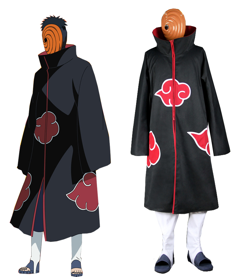 Naruto Shippuden Uchiha Madara Akatsuki Uniform Anime Cosplay Costume(China (Mainland))