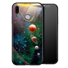 TOMKAS espacio para Huawei P20 Lite P Smart Mate 20 Lite funda trasera de vidrio de suave de silicona caso por Honor 9 Lite 10(China)