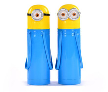 380ML Minions Cartoon Thermos My Water Drink Student Bottle Garrafa Termica Thermo Cup Thermal Termos Copothermal Package Mail(China (Mainland))