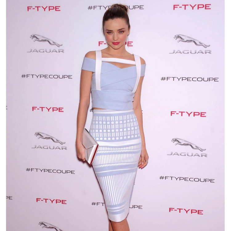 2015 Hot Selling HL bandage dress A word shoulder bag of cultivate one's morality hip checked two-piece blue stripes