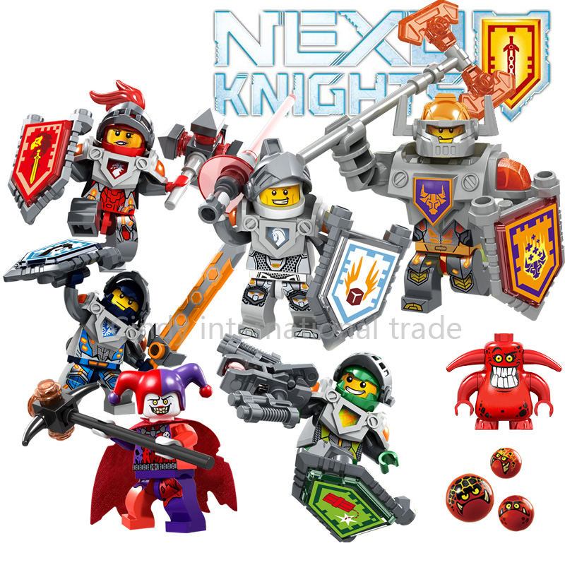 6pcs/lot Nexo Knights Future Knight Castle Warrior 2016 New Building Block Minifigures Bricks Kid Toy Gift Compatible Legoelieds(China (Mainland))