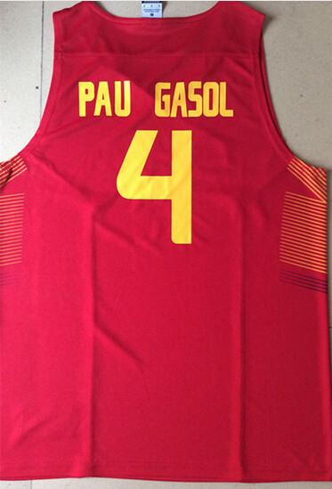 4#Pau Gasol, 13#Marc Gasol, 5#Fernandez, 11# Ricky Rubio, 7#Navarro Jersey 2014 World Cup Team Basketball Spain Jerseys 2323(China (Mainland))