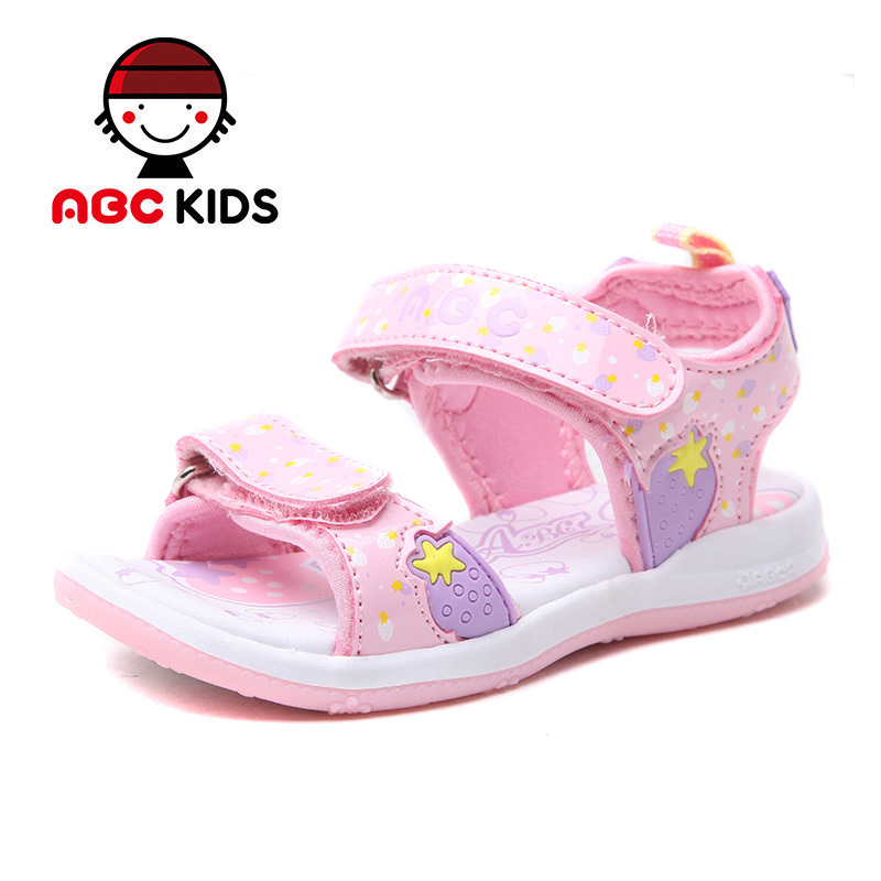 ABC KIDS Girls Sandals 2015 Summer Style Princess Kids Sandy Beach Shoes Slip Resistant TPR Soles Children's Footwear  -  shoes store