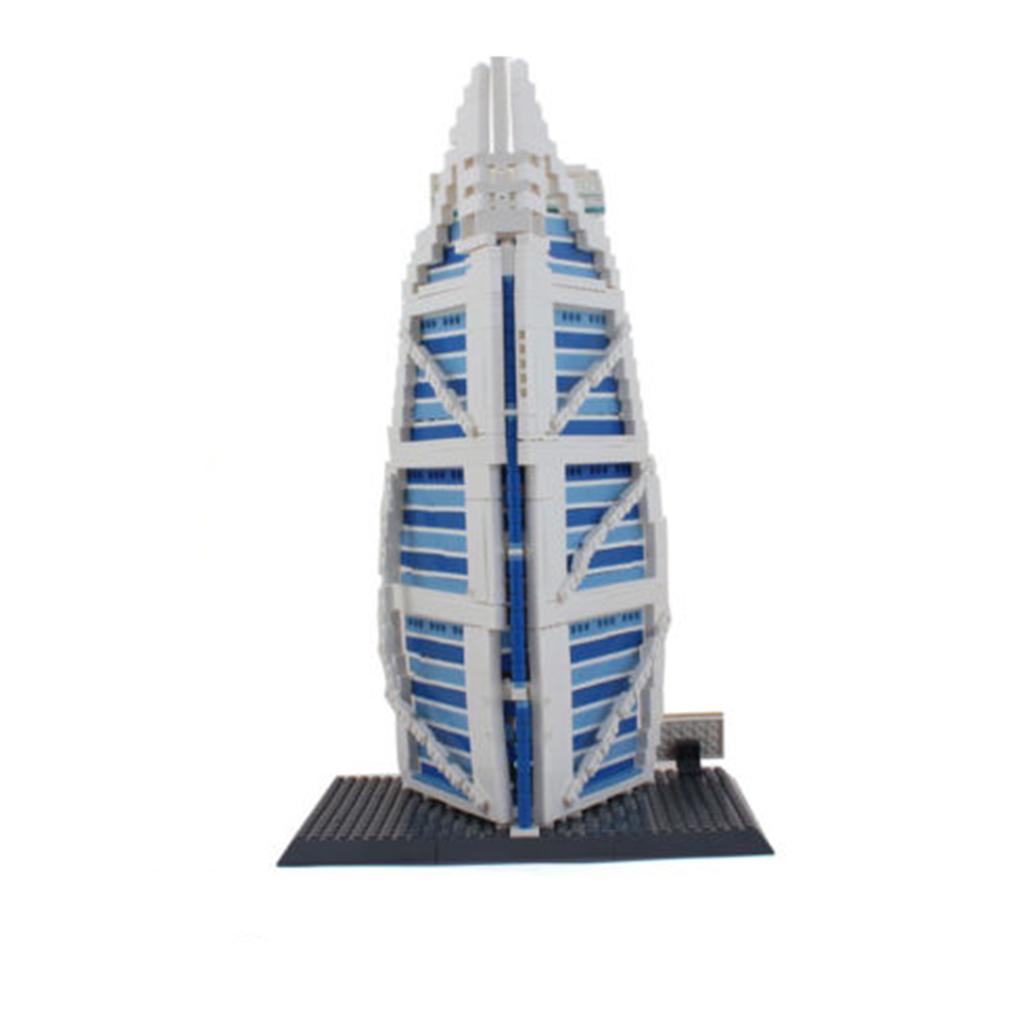 1307 Pieces Burj Al Arab Hotel of Dubai Model 3D Jigsaw Puzzle Building Blocks Kits Construction Toy Kids Gift