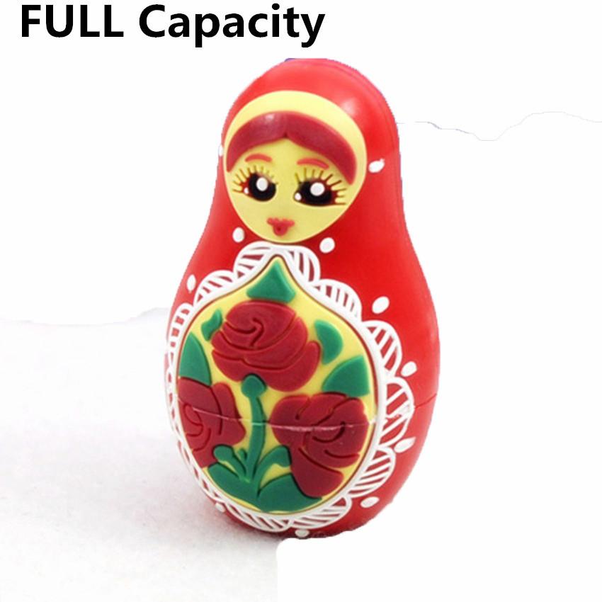 Real capapcity Russian doll cartoon USB Flash Drive pen drive 4GB 8GB16GB 32GB 64GB memory stick thumb drive pendrive U Disk(China (Mainland))