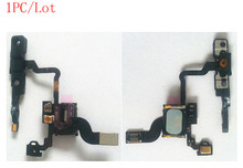 (04G906)(1PC/Lot) 100% Top Quality Guarantee for iPhone 4 4G GSM Proximity Light Sensor+Ear Speaker+Power Button Flex Cable