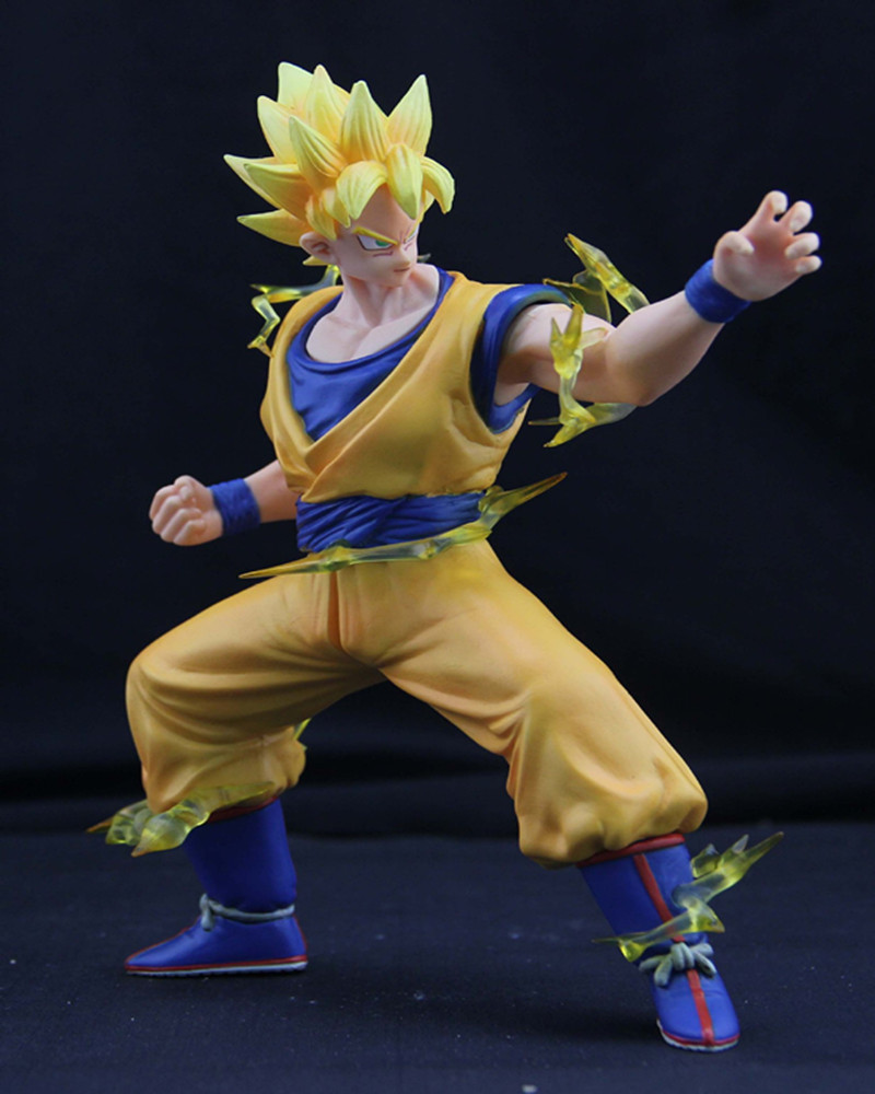 Hot toys Dragon Ball Z Super Saiyan Goku second Fighting shape  PVC Action Toy Figures17cm brinquedo model juguete Free Shipping<br><br>Aliexpress