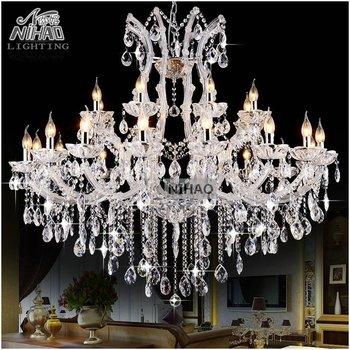 massive lampadari : 24 Luci Massive Bianco Lampadari di Cristallo Chiaro Vintage chrystal ...