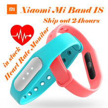 IN STOCK 100% Original Xiaomi Mi Band 1S Heart Rate Monitor Smart Wristband Miband Bracelet For Android 4.4 iOS 7.0 Passometer