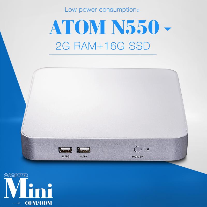 Stable Performance Desktop Atx Mini Pc for X26-n550l N550 1.5GHZ Dual Core Super Small Form Mini Pc Slim Pc 2gb Ram 16g SSD(China (Mainland))