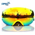 COPOZZ ski goggles double lens anti fog spherical professional skiing glasses unisex multicolor snow snowboard eyeswear