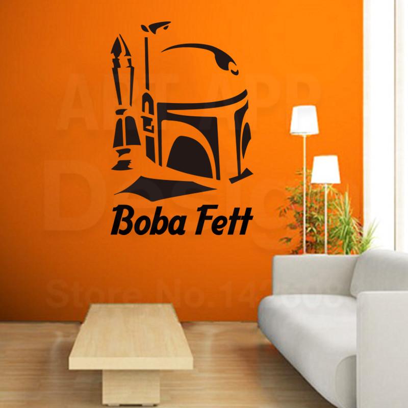 2016 art new design home decor cheap vinyl boba fett movie. Black Bedroom Furniture Sets. Home Design Ideas