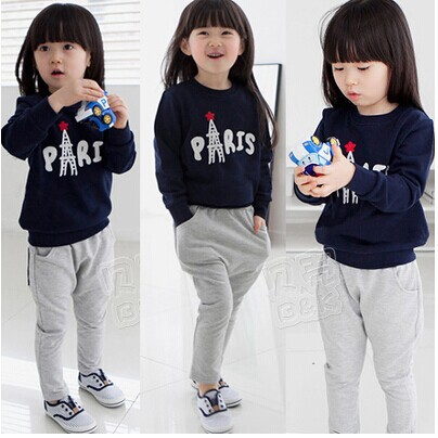 2014 qiudong han edition new female leisure children's clothing Sweater pants suits  -  balabala11 store