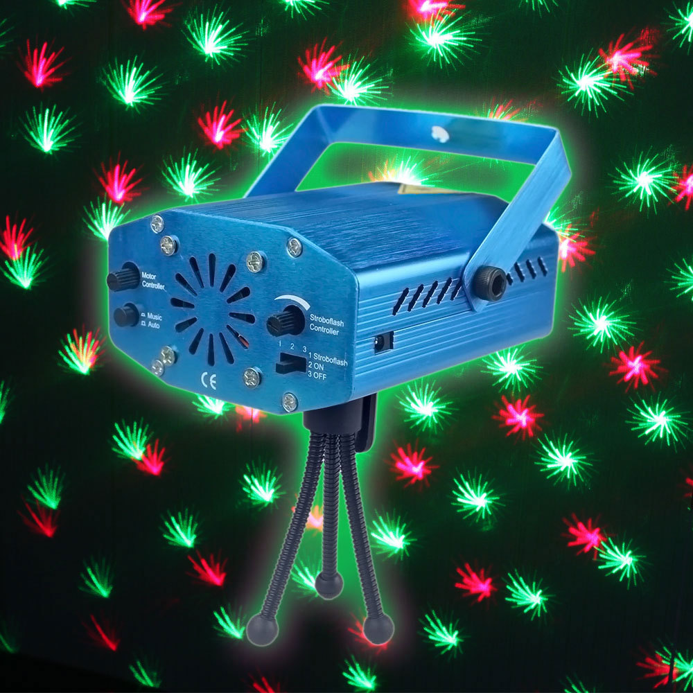 Mini R&G Laser Projector Stage Light LED Effect Lighting Xmas Party DJ Disco KTV Show Lighting US Plug(China (Mainland))