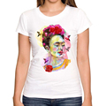 2016 New Arrival Fashion Frida in Love women print t shirt funny Frida Kahlo t shirts