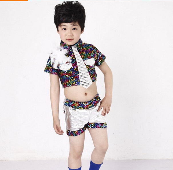 Funky sequin jazz modern tap dress dance costume childs in clothing
