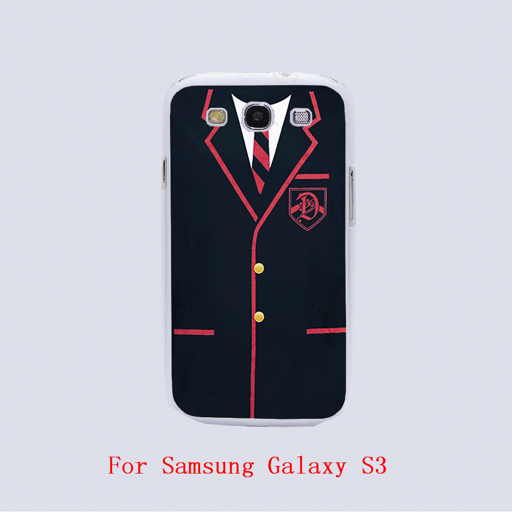 GLEE DALTON ACADEMY UNIFORM Design white skin phone cover cases For Samsung Galaxy S3 9300 /S4 /S5 /S6 /S6 Edge(China (Mainland))
