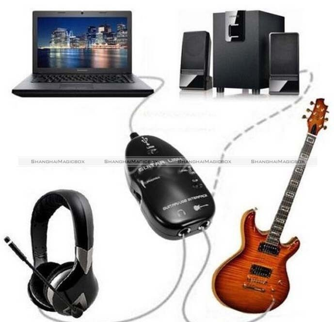 USB to Guitar Interface Link Audio Cable for PC/MAC Recording Record Adapter JDS 70214308(China (Mainland))