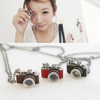 Sunshine store jewelry store retro camera pendant necklace  X103( $10 free shipping )
