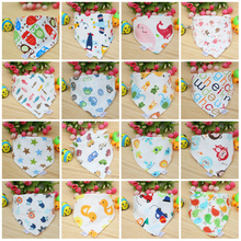 24 Styles Cute Cotton Baby Towel Toddler Newborn Triangle Baby Boys Kids Feeding Infant Snaps bibs Burp Cloths