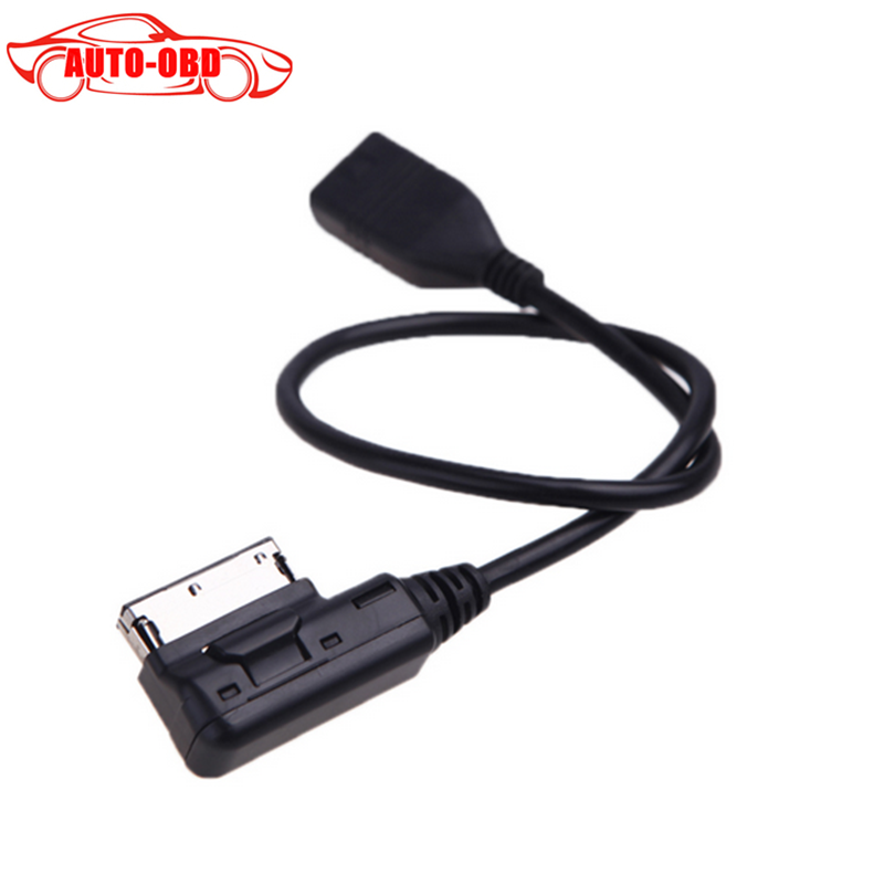Auto Plus Car Cable Music Interface AMI MMI to USB Cable Adapter for Audi A3 A4 A5 A6 A8 Q5 Q7 Q8 VW(China (Mainland))