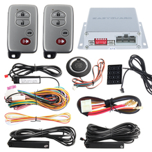 Good quality PKE car alarm system remote engine start/ stop, push button start stop and Touch password entry, auto window close(China (Mainland))