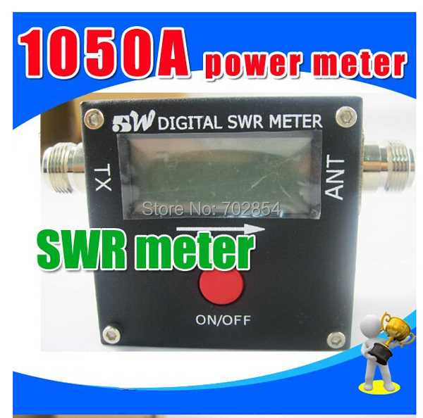 Free shipping NEW Redot 1050A 120W Digital VHF UHF Band SWR/Power Meter N-Female Electronic frequency Meter(China (Mainland))