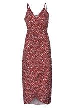 פרחוני הדפסת שיפון ארוך שמלת 2019 סקסי V צוואר ללא משענת Boho חוף שמלת Vestidos נשים פיצול הקיץ הקיצי מקסי שמלה(China)